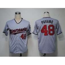 MLB Minnesota Twins 48 Pavano Grey Jerseys