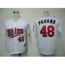 MLB Minnesota Twins 48 Pavano White Jerseys