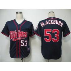 MLB Minnesota Twins 53 Blackburn Blue Jerseys