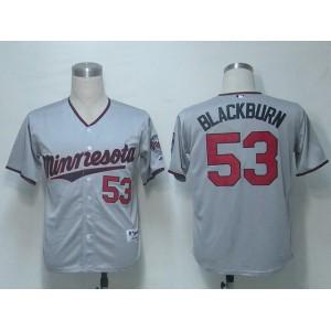 MLB Minnesota Twins 53 Blackburn Grey Jerseys