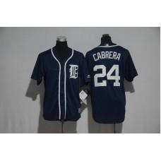 Youth 2017 MLB Detroit Tigers 24 Cabrera Blue Jerseys
