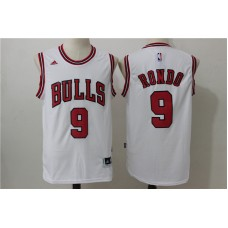 2016 NBA Chicago Bulls 9 Rondo White Jerseys