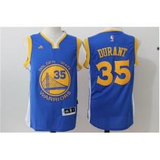 2016 NBA Golden State Warriors 35 Kevin Durant Blue Jerseys
