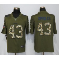 2016 Philadelphia Eagles 43 Sproles Green Salute To Service Nike Limited Jersey