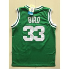 2017 NBA Boston Celtics 33 Larry Bird green kids jerseys