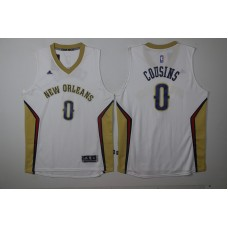 2017 NBA New Orleans Pelicans 0 Cousins white Jersey