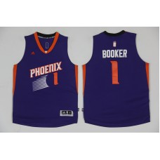 2017 NBA Phoenix Suns 1 Devin Booker Purple Jerseys
