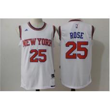 NBA New York Knicks 25 Rose white 2016 Jerseys