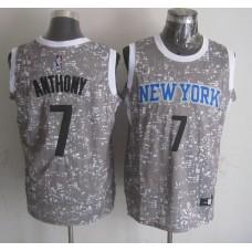 NBA New York Knicks 7 Anthony Grey National Flag Star Jersey