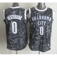 NBA Oklahoma City Thunder 0 westbrook black national flag star Jersey