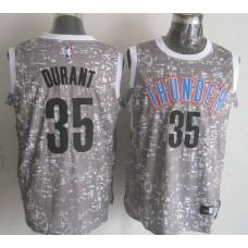 NBA Oklahoma City Thunder 35 durant Grey National Flag Star Jersey.