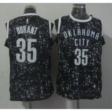 NBA Oklahoma City Thunder 35 durant black New National Flag Star Jersey