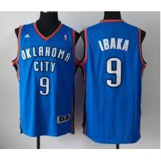 NBA Oklahoma City Thunder 9 Serge Ibaka Blue Jerseys