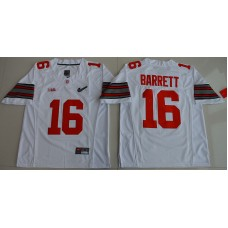 2015 Ohio State Buckeyes J.T. Barrett 16 Diamond Quest College Football White Jersey