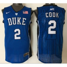 2016 NBA NCAA Duke Blue Devils 2 Cook Blue Jerseys 1