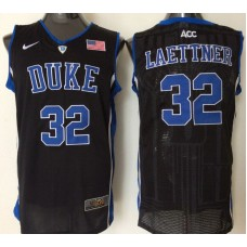 2016 NBA NCAA Duke Blue Devils 32 Laettner Black Jerseys