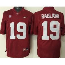 2016 NCAA Alabama Crimson Tide 19 Ragland red jerseys
