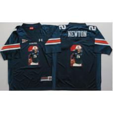 2016 NCAA Auburn Tigers 2 Newton Blue Fashion Edition Jerseys