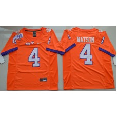 2016 NCAA Clemson Tigers 4 DeShaun Watson Orange College Football Limited Jersey