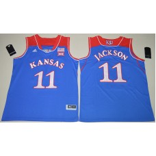2016 NCAA Kansas Jayhawks 11 Josh Jackson Royal Blue College Basketball Authentic Jersey