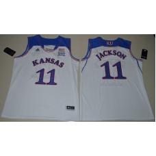 2016 NCAA Kansas Jayhawks 11 Josh Jackson White College Basketball Authentic Jersey