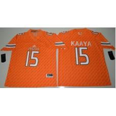 2016 NCAA Miami Hurricanes 15 Brad Kaaya Orange College Football Jerseys