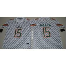 2016 NCAA Miami Hurricanes 15 Brad Kaaya White College Football Jerseys