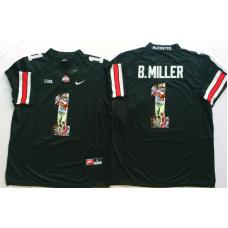 2016 NCAA Ohio State Buckeyes 1 B.Miller Black Fashion Edition Jerseys1