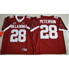 2016 NCAA Oklahoma Sooners 28 Adrian Peterson Crimson College Limited Football Jersey