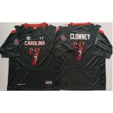 2016 NCAA South Carolina Gamecock 7 Clowney Black Fashion Edition Jerseys