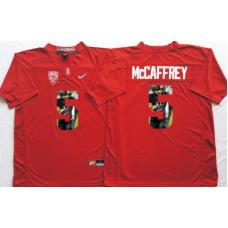 2016 NCAA Stanford Cardinals 5 Mccaffrey Red Fashion Edition Jerseys