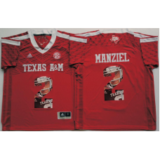 2016 NCAA Texas A&M Aggies 2 Manziel Red Fashion Edition Jerseys
