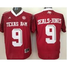 2016 NCAA Texas A&M Aggies 9 Seals-Jones red jerseys