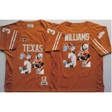2016 NCAA Texas Longhorns 34 Williams Yellow Fashion Edition Jerseys