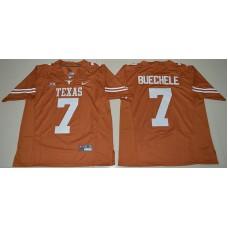 2016 NCAA Texas Longhorns 7 Shane Buechele Burnt Orange College Football Limited Jersey