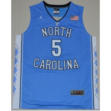 2016 North Carolina Tar Heels Marcus Paige 5 College Basketball Jersey - Carolina Blue