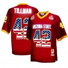 2016 US Flag Fashion Men Arizona State Sun Devils Pat Tillman 42 1997 Rose Bowl College Football Throwback Jersey  Maroon