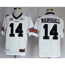 NCAA Auburn Tigers 14 Nick Marshall White Football Jerseys