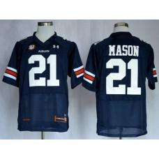 NCAA Auburn Tigers 21 Tre Mason Navy Blue Football Authentic Jerseys