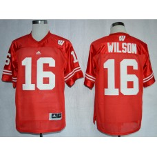NCAA Wisconsin Badgers 16 Russell Wilson Red College Football Jerseys