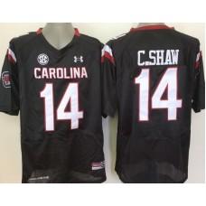 Youth 2016 NCAA South Carolina Gamecock 14 C.Shaw Black Jerseys