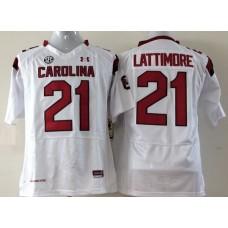 Youth 2016 NCAA South Carolina Gamecock 21 Lattimore White Jerseys