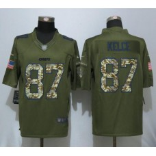 2016  New Nike Kansas City Chiefs 87 Kelce Salute To Service Limited Jersey