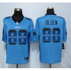 2016 Carolina Panthers 88 Olsen Blue StrobeNew Nike Limited Jersey