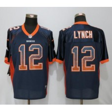 2016 Denver Broncos 12 Lynch Drift Fashion Blue NEW Nike Elite Jerseys