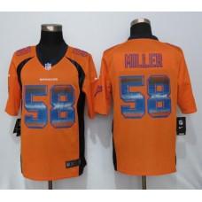 2016 Denver Broncos 58 Miller Orange Strobe New Nike Limited Jersey