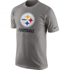 2016 NFL Pittsburgh Steelers Nike Facility T-Shirt - Heathered Gray