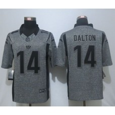2016 New Nike Cincinnati Bengals 14 Dalton Gray Men's Stitched Gridiron Gray Limited Jersey