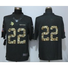 2016 New Nike Minnesota Vikings 22 Smith Anthracite Salute To Service Limited Jersey