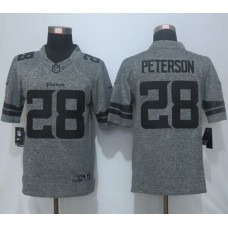 2016 New Nike Minnesota Vikings 28 Peterson Gray Men's Stitched Gridiron Gray Limited Jersey